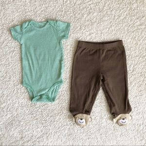 Carter's Two-Piece Bodysuit & Footed Pants